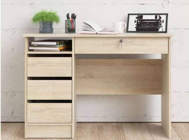 bureau en bois conforama